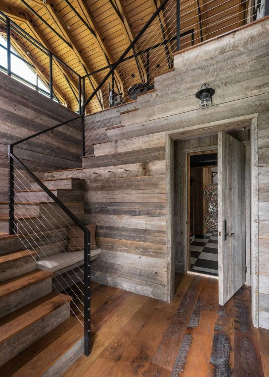 wystrój wnętrz, wnętrza, urządzanie mieszkania, dom, home decor, dekoracje, aranżacje, stodoła, barn, styl rustykalny, rustic style, styl nowoczesny, modern style, szklana ściana, glass wall