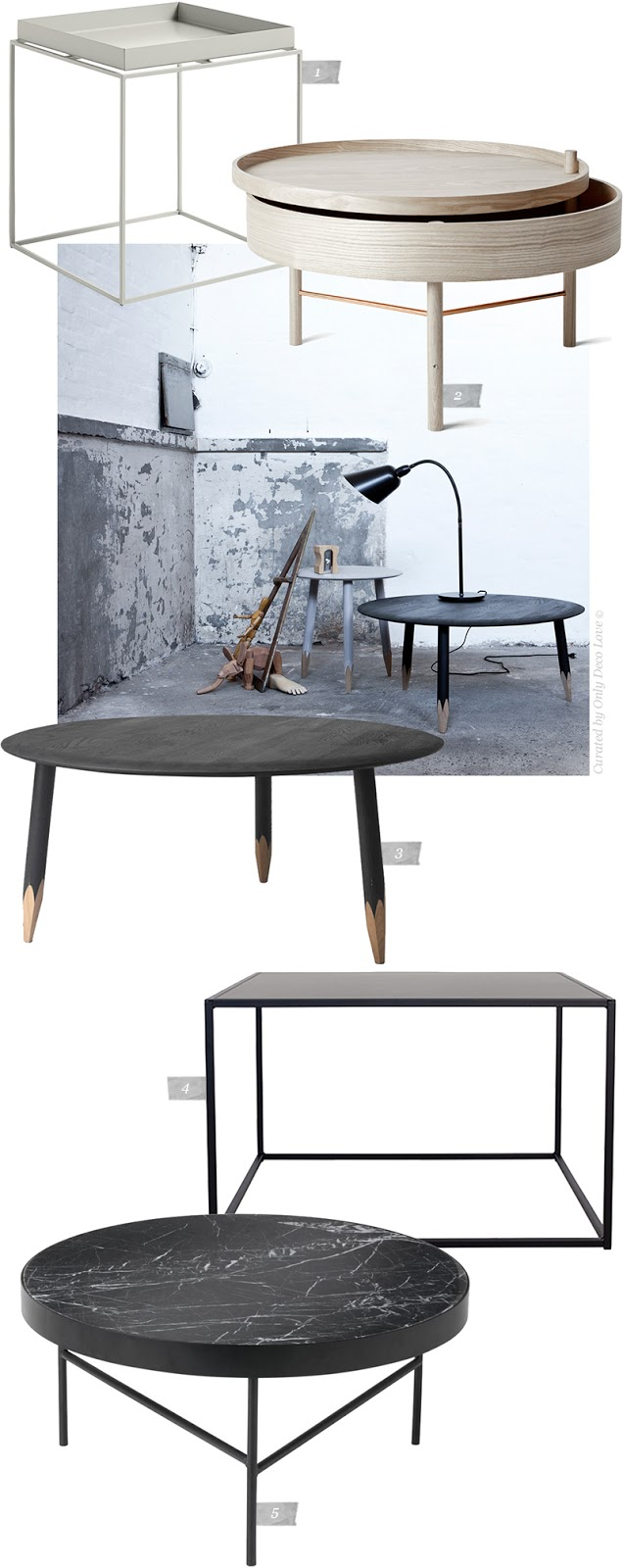 5 Designer Coffee Tables on my Mind