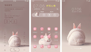 Pink Rabbit Theme itz for Vivo