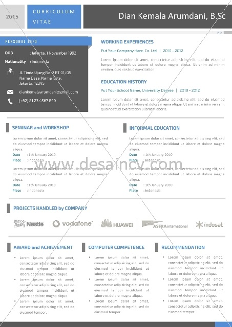 Contoh CV Microsoft Word