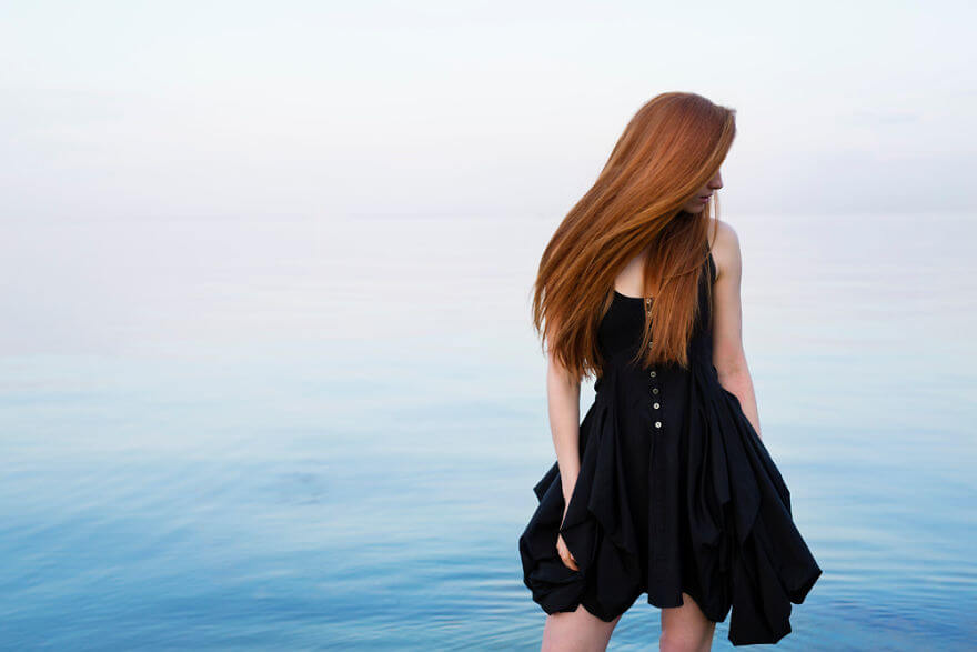 30 Stunning Pictures From All Over The World That Prove The Unique Beauty Of Redheads - Model Nastya Pindeeva Overlooking The Black Sea In Ukraine