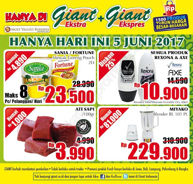 Promo Giant Ekstra dan Ekspres HANYA 1 HARI periode 05 Juni 2017