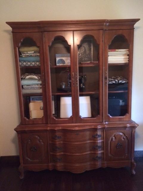 My Stuff DIY China Hutch Turned Sewing Cabinet