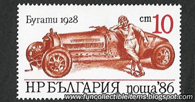 Bugatti 1928 Stamp