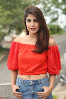 Rhea Chakraborty in Red Crop Top and Denim Shorts Spicy Pics ~  Exclusive 310.JPG