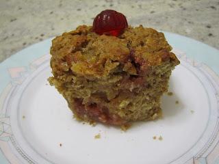 Intérieur d'un muffins allégés en sucres aux pépites de bonbons Haribo Fruitilicious