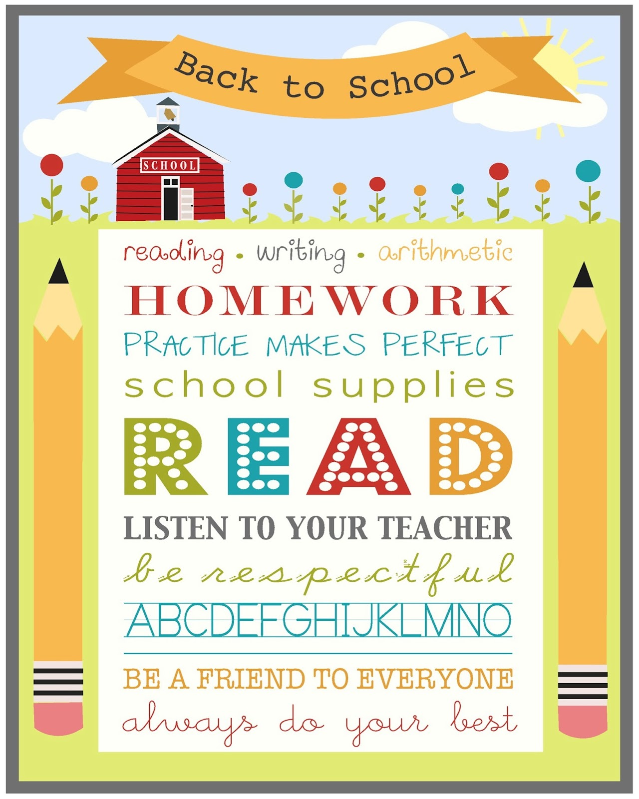 The Jacobs Clan Back To School Printables