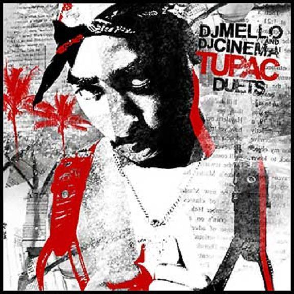 Tupac Shakur stilisiert auf einem Mixtape Cover