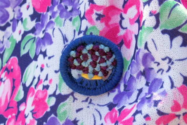 Beautiful Blue and Purple 1940's brooch From Mrs B's Brooches