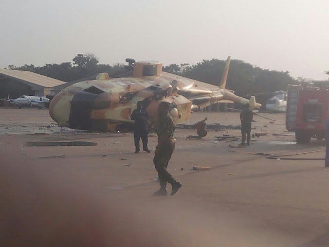 NIGERIAN AW101 HAS CRUSHED