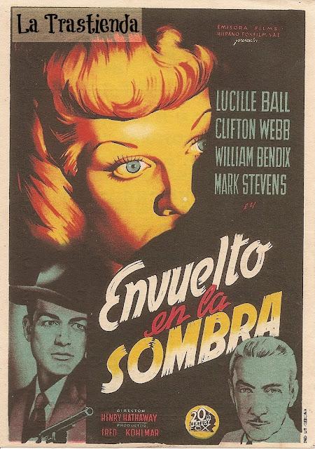 Programa de Cine - Envuelto en la Sombra - Lucille Ball - Clifton Webb