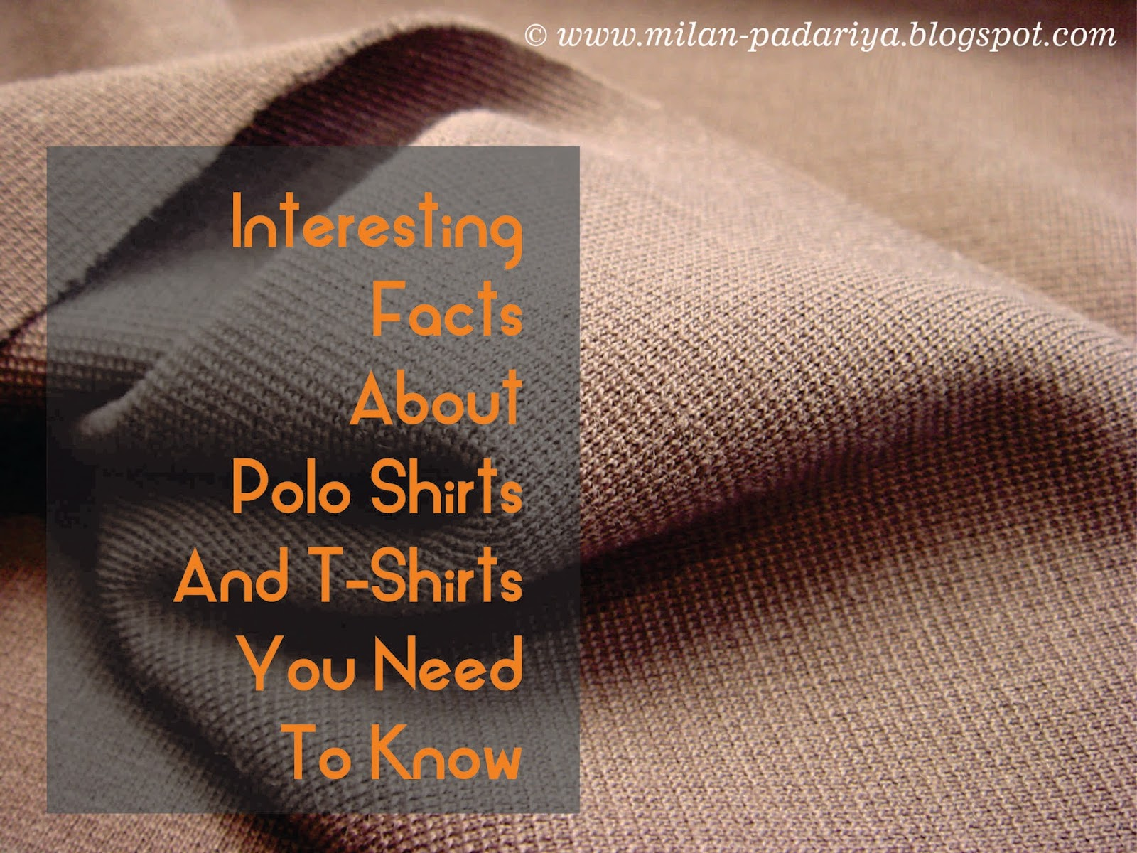 Interesting Facts About Polo Shirts And T-Shirts You Need ...
