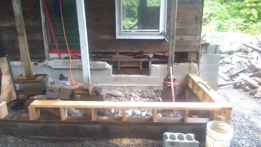 work on the front porch continues