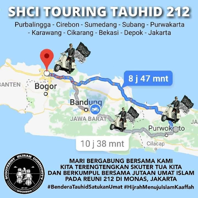 SHCI Bersama Ummat Gelar Touring Tauhid Menuju Reuni 212
