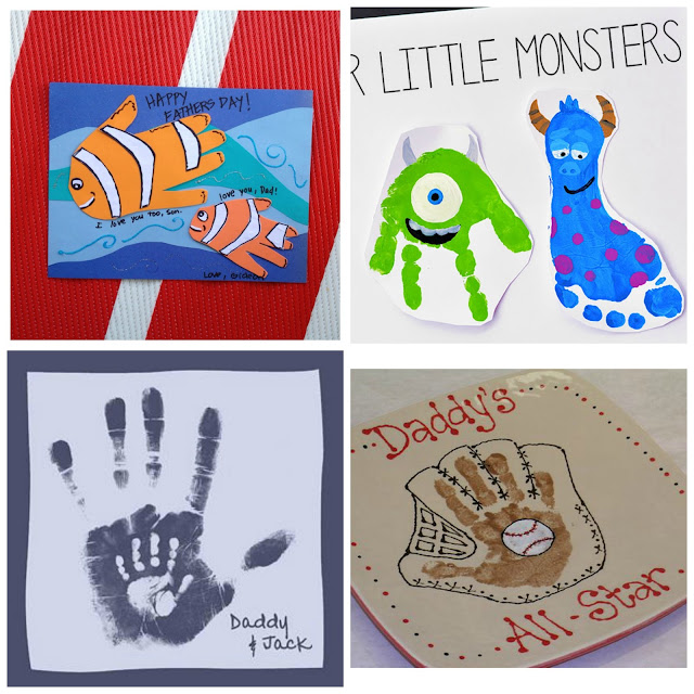 Kid-Made gift ideas for Father's Day using handprints.  These are adorable! #handprintart #handprintcrafts #handprintfathersdaycrafts #handprintfathersday #handprintkeepsakeideas #fathersdaygifts #fathersdaygiftsfromkids #kidmadegifts #kidmadefathersday #giftsfordad #giftsfordadfromkids #growingajeweledrose