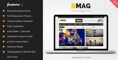 BMAG v2.0 Responsive Blogger Template Free Download