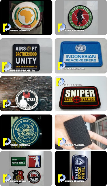 Patch rubber Velcro karet