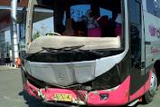 Bus Rombongan Haji Selayar Kecelakaan Di Takalar