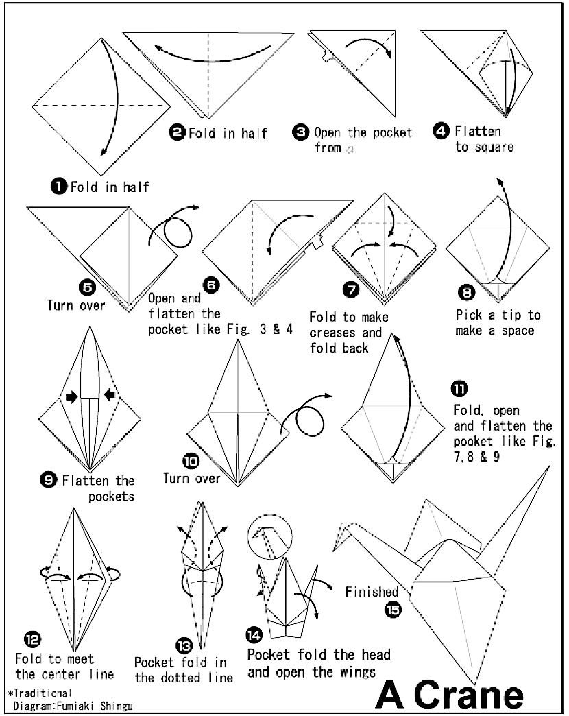 How to make a paper crane Ideas for the little ones