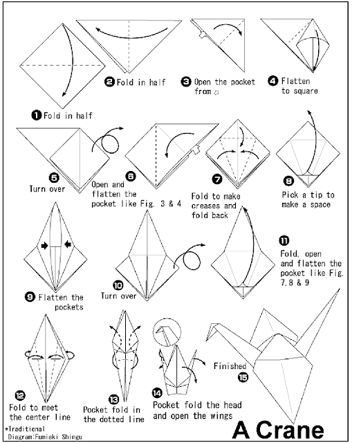 How To Fold An Origami Paper Crane Instructions