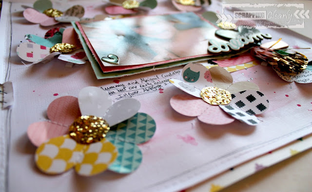""""""" Sweet dreams"""" layout by Bernii Miller for Scrapping Clearly using the Cute Girl collection by Crate Paper."""