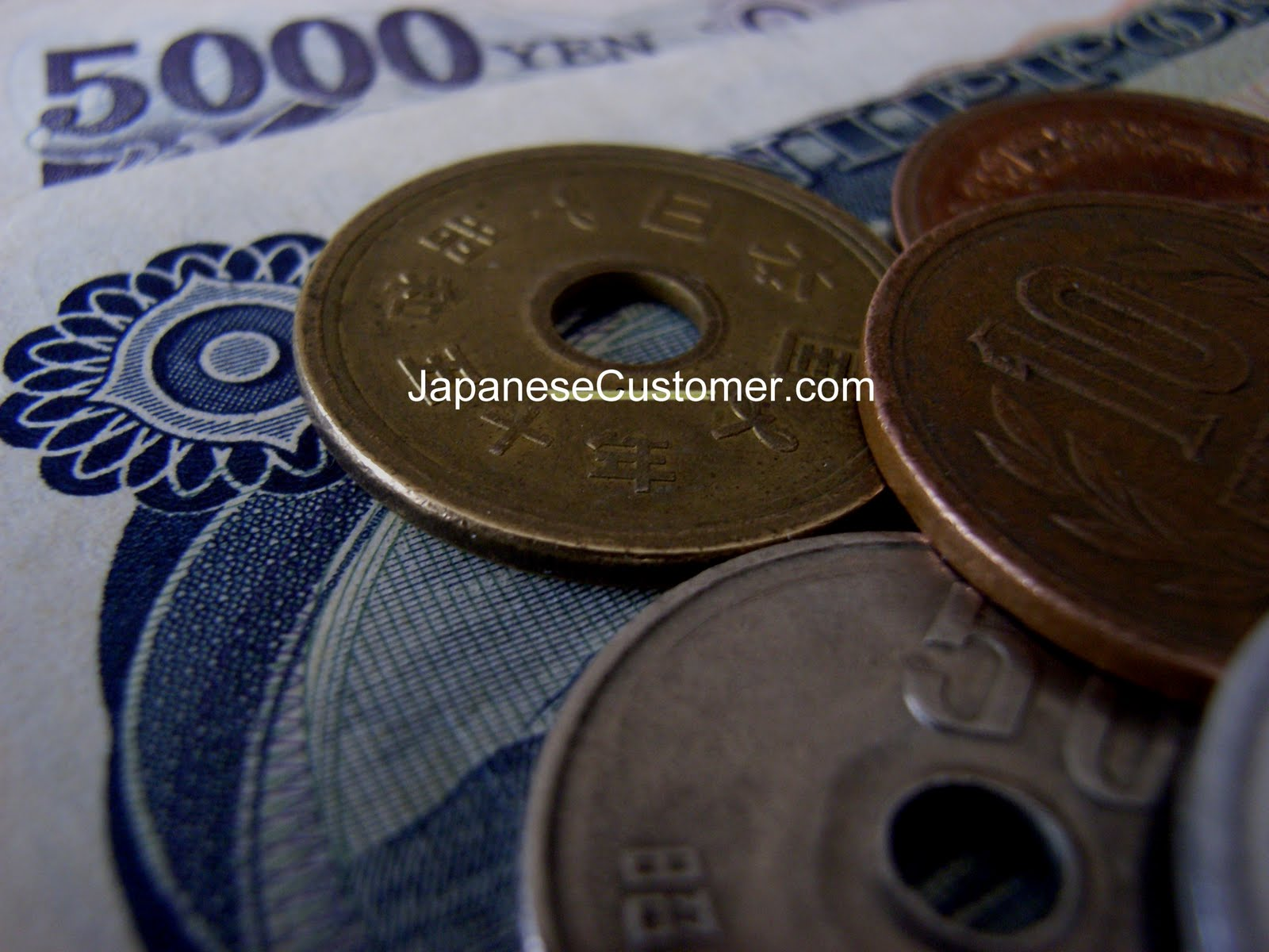 Japanese currency Copyright Peter Hanami 2004