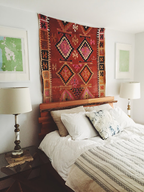 Unique Headboard Ideas Vintage Kilim Rug Tapestry