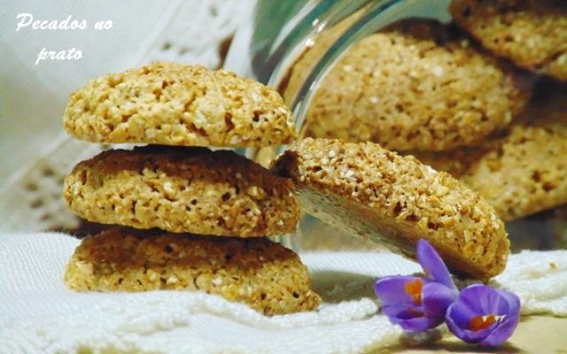 Receita de biscoitos de aveia simples