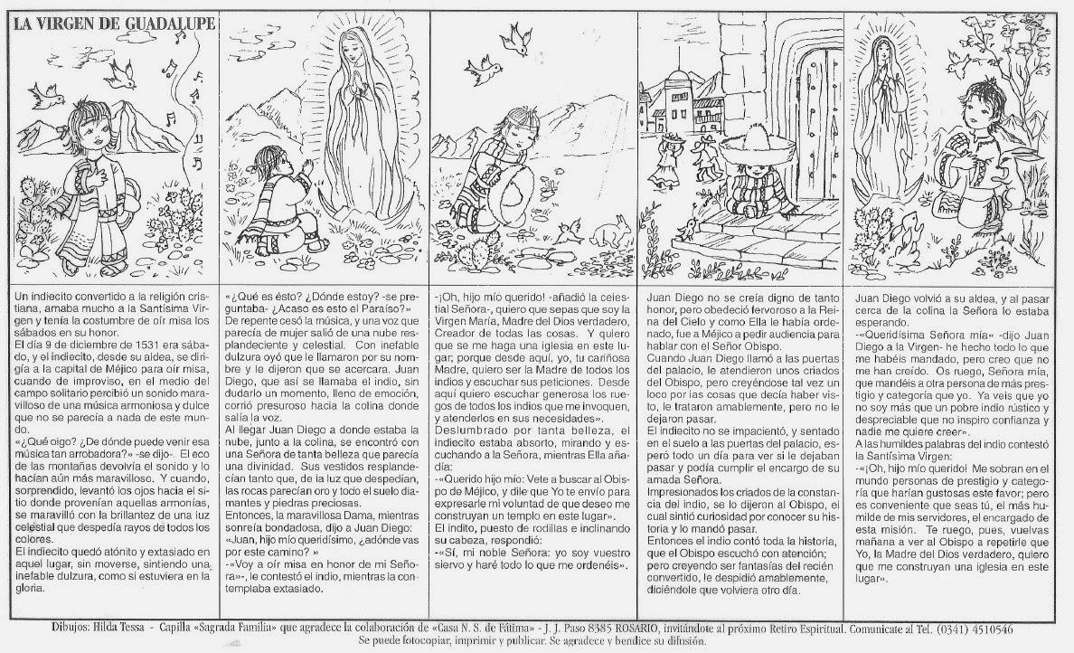 Dibujos Para Colorear De La Virgen De Guadalupe Para Ninos