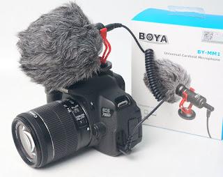 Jual Microphone Kamera Boya Shotgun