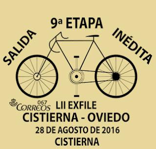 Matasellos vuelta ciclista Cistierna - Oviedo