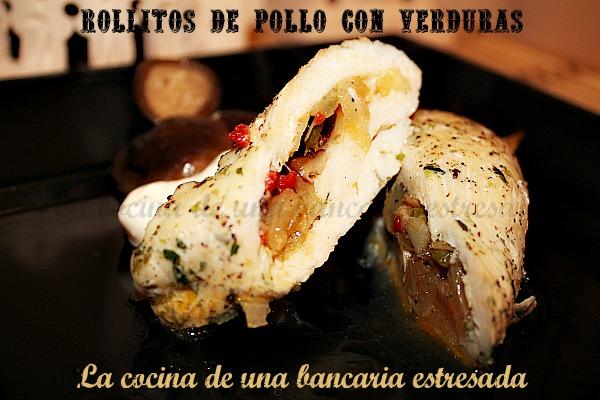 Receta de rollitos de pollo con verduras paso a paso y con fotografías