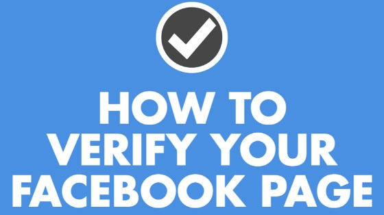 How do I verify my facebook page