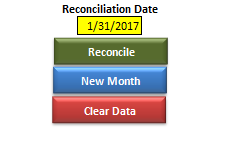 Bank Reconciliation Buttons