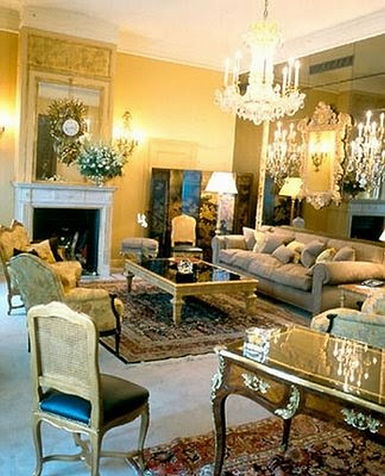 Coco Chanel hotel suite living room at the Ritz