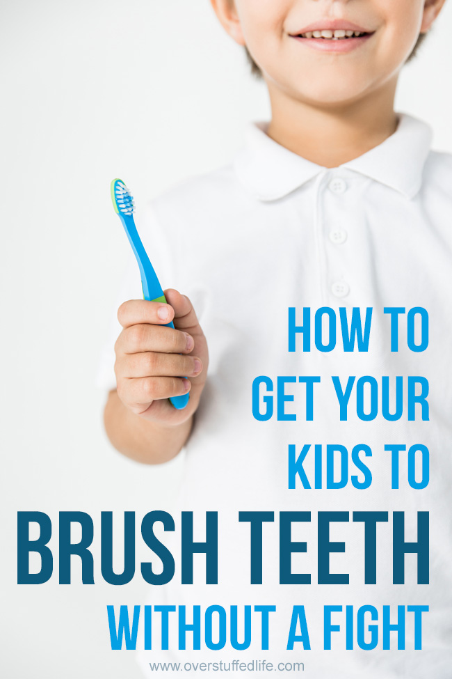 Getting kids brushing their teeth without a fight is a parenting battle we all struggle with.  This simple trick will help you stop nagging your children about tooth brushing and actually make brushing teeth fun.