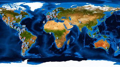 Mapa visitas, round the world, La vuelta al mundo de Asun y Ricardo, mundoporlibre.com