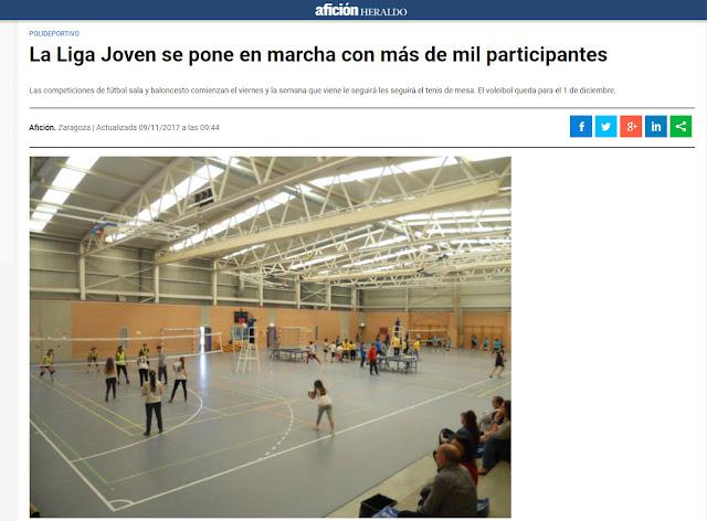NOTICIA AFICCIÓN HERALDO: La Liga Joven se pone en marcha con más de 1000 participantes