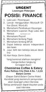 Lowongan Kerja Chemistree Coffe and Eatery