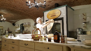 Making Traditional Vienesse Strudle in the Schonbrunn Palace Vienna