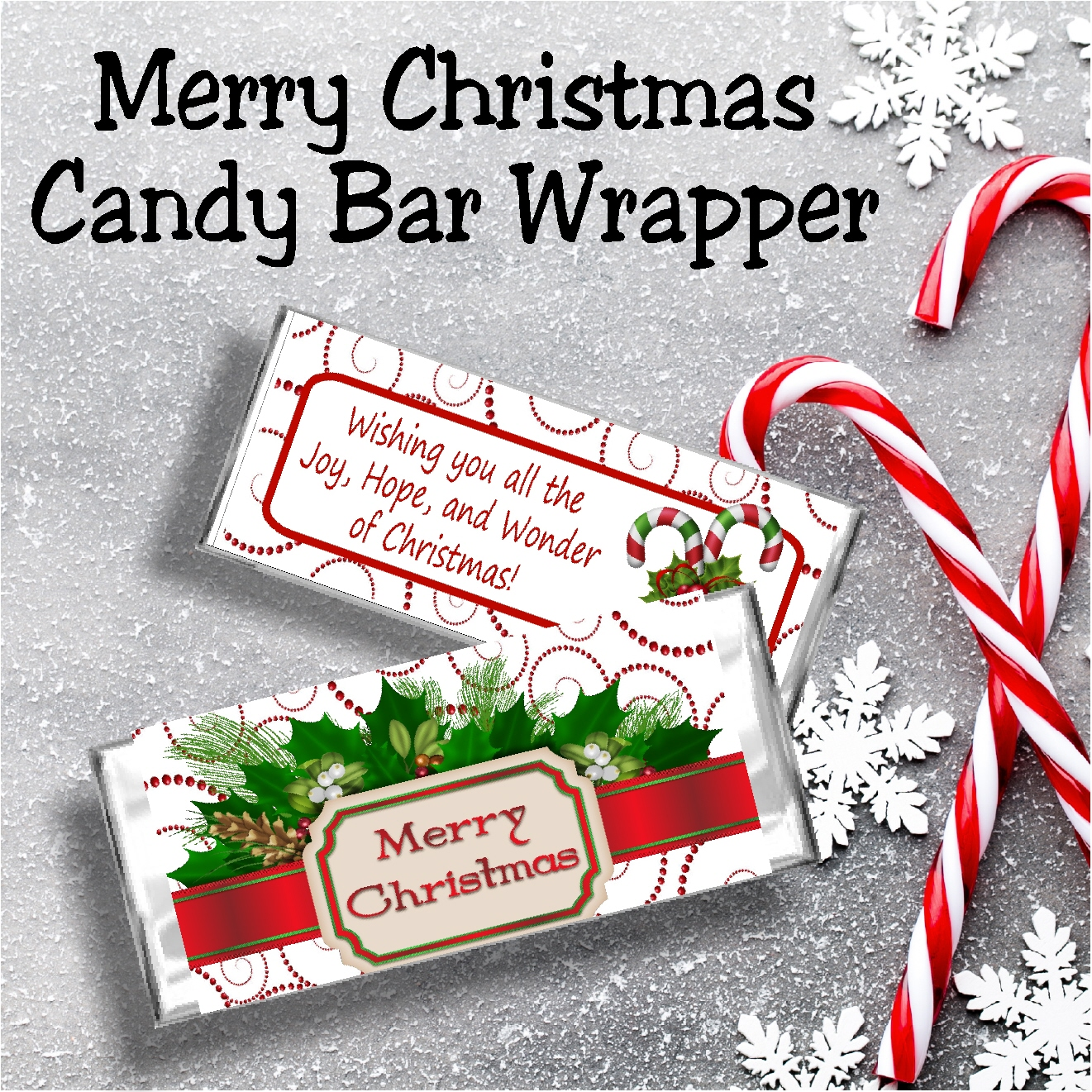 Diy Party Mom Merry Christmas Printable Candy Bar Wrapper