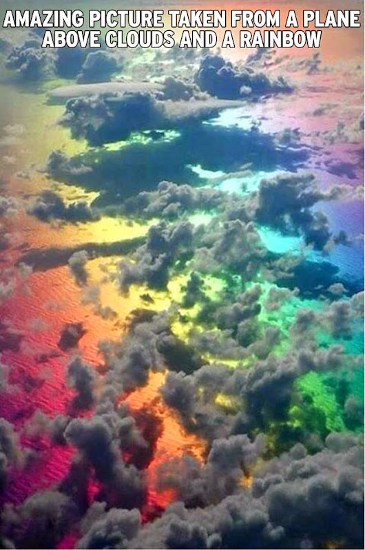 Rainbow From Above The Clouds!