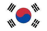 Logo Gambar Bendera Negara Korea Selatan PNG JPG ukuran 200 px