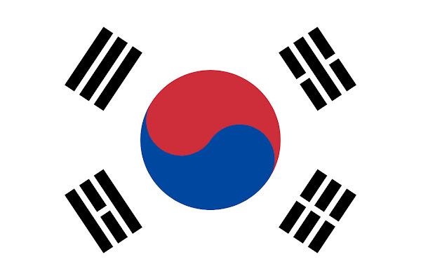 Logo Gambar Bendera Negara Korea Selatan PNG JPG ukuran 600 px