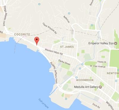 Trinidad ve Tobago'daki Türk Konsolosluğu Harita