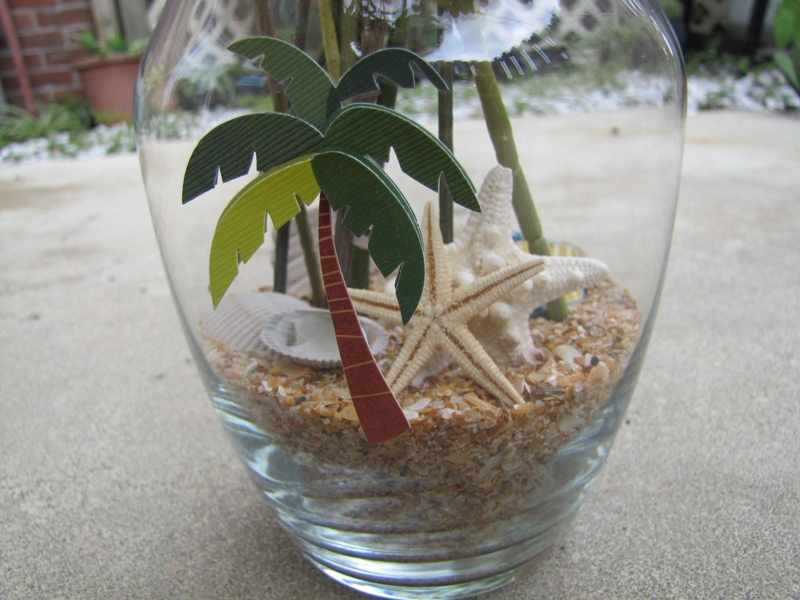 Crafts And Digital Dollars: Beach Theme Flower Vase