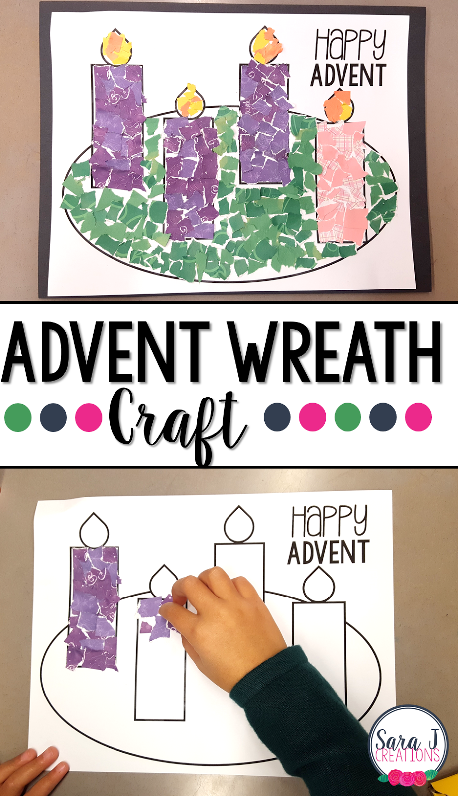 advent craft ideas advent wreath rip craft j creations 1025