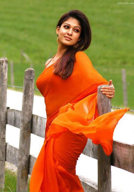 Nayanthara saree stills