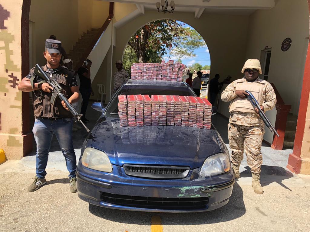 Resultado de imagen para Decomisan 247 mil unidades de cigarrillos en Neyba
