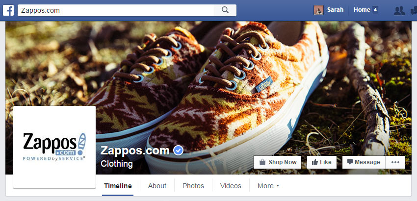 Zappos Facebook Cover Photo